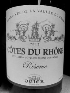 Cote Du Rhone - Grayscale